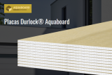 placa DURLOCK 12.5 mm. x 2.40 m. AQUABOARD art. 9418