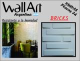 Placa 3d PVC Antihumedad 50X50 BRICKS