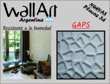 Placa 3d PVC Antihumedad 50X50 GAPS