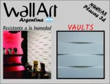 Placa 3d PVC Antihumedad 50X50 VAULTS